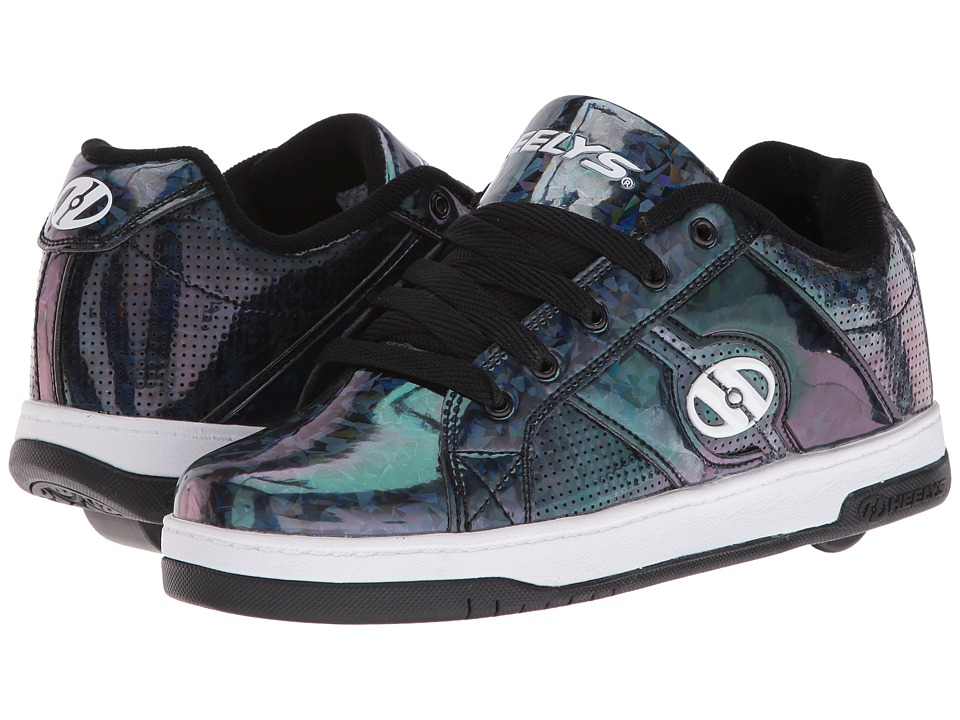 Heelys Split (Little Kid/Big Kid/Adult) (Black/Hologram) Girls Shoes