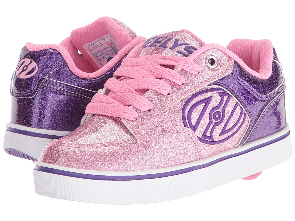 Heelys - Motion Plus (Little Kid/Big Kid/Adult) (Purple/Pink Glitter) Girl's Shoes