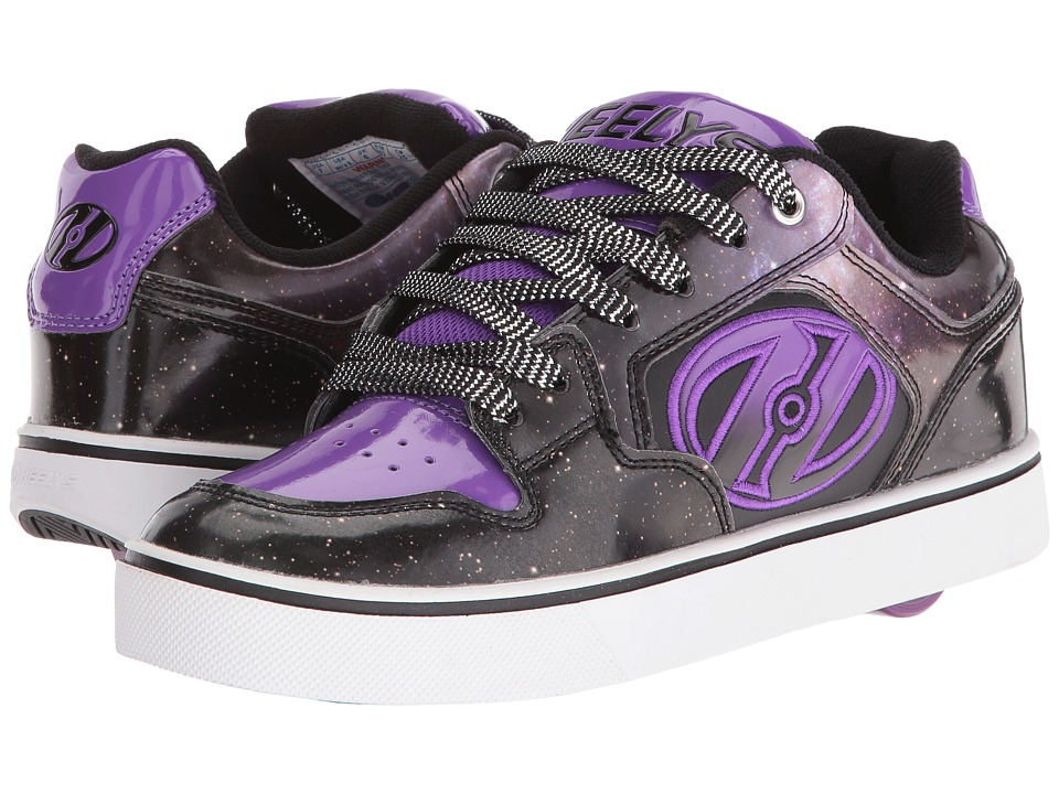 Heelys - Motion Plus (Little Kid/Big Kid/Adult) (Black/Purple/Galaxy) Girl's Shoes