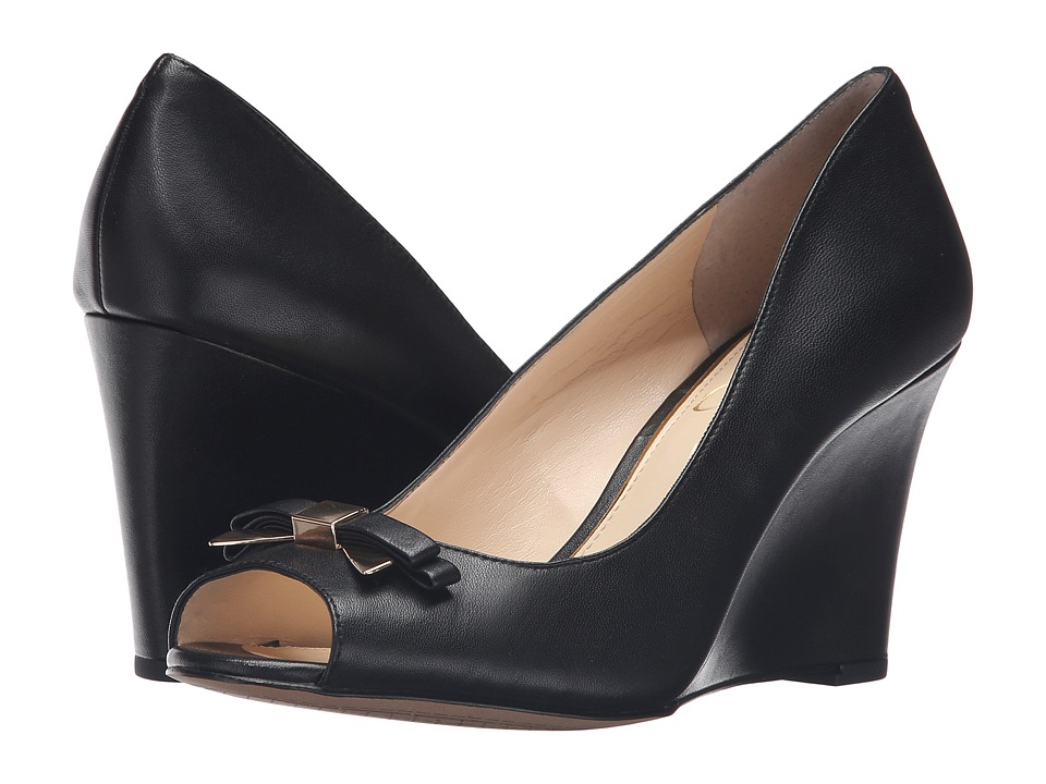 Jessica Simpson - Lecia (Black Soft Nappa Silk) Women's Wedge Shoes