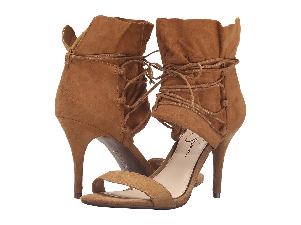 Jessica Simpson - Madeena (Honey Brown Luxe Kid Suede) Women's Shoes