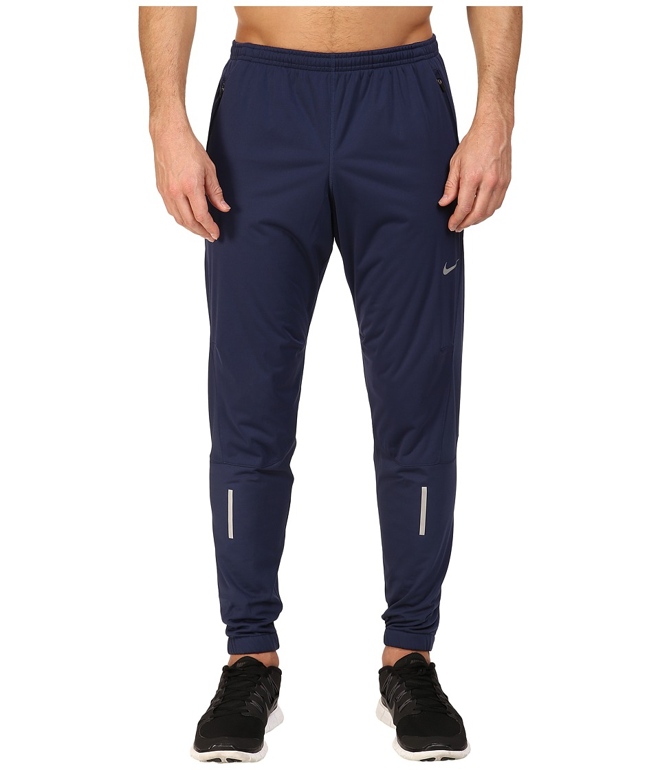 Nike - Shield Running Pant (Midnight Navy/Reflective Silver) Men's Workout