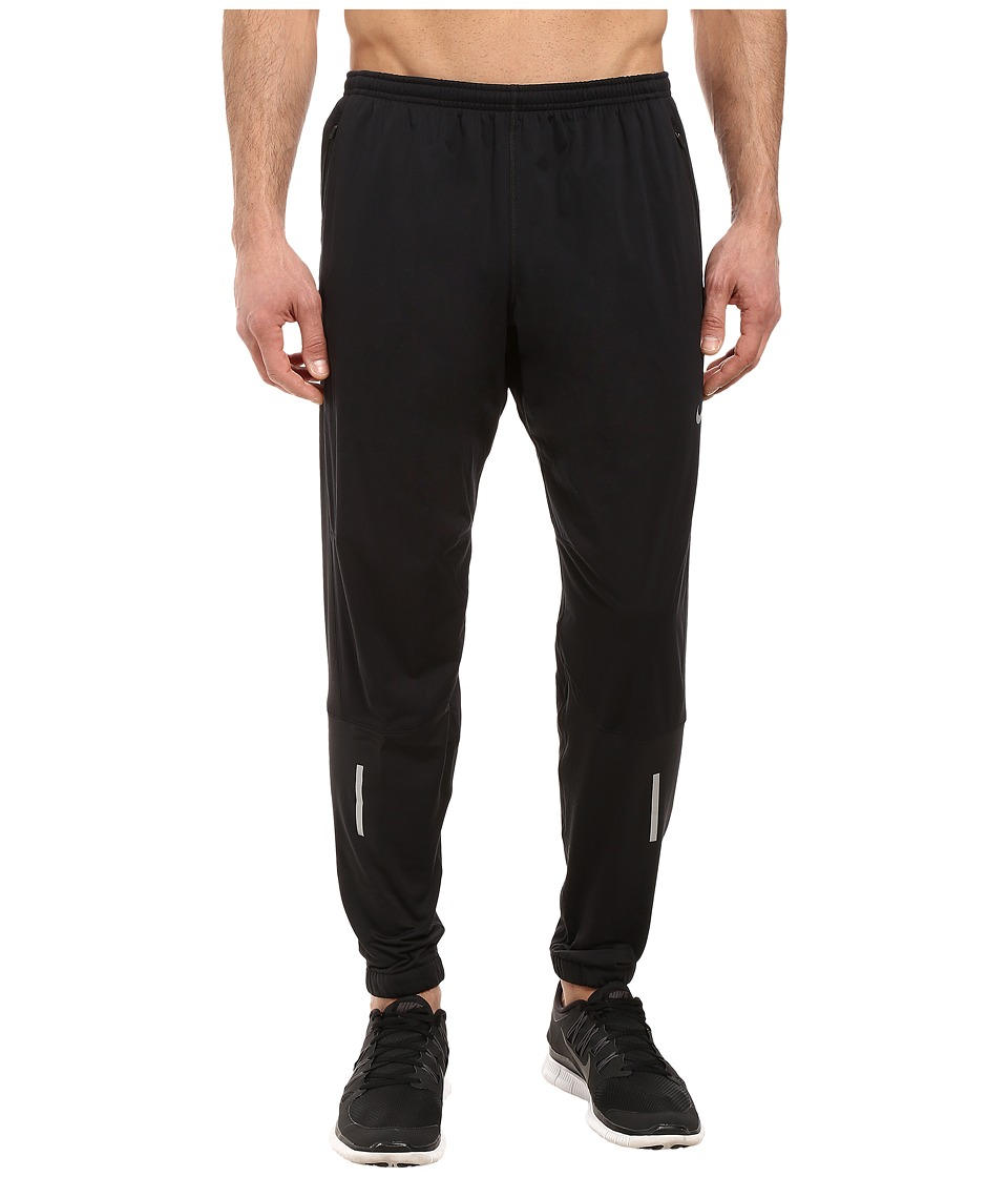 Nike - Shield Running Pant (Black/Reflective Silver) Men's Workout