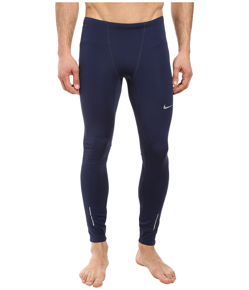 Nike Dri-FITtm Thermal Tights (Midnight Navy/Obsidian/Reflective Silver) Men