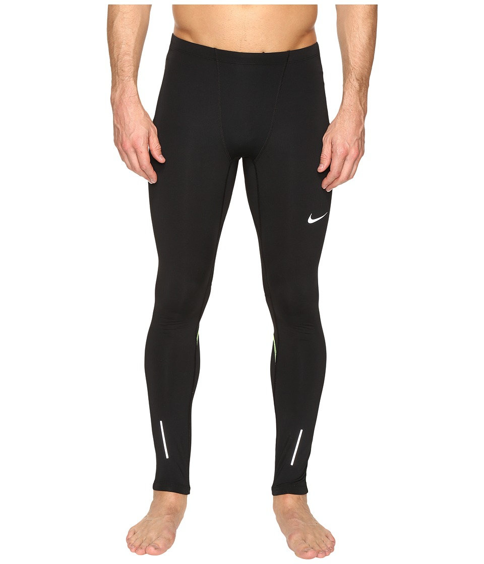 Nike - Dri-FIT Thermal Tights (Black/Volt/Reflective Silver) Men's Workout
