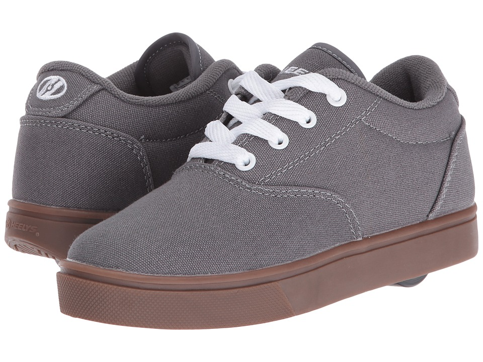 Heelys Launch (Little Kid/Big Kid/Adult) (Grey/White/Gum) Boys Shoes