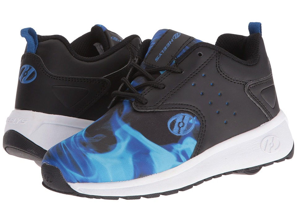 Heelys - Velocity (Little Kid/Big Kid/Adult) (Black/Blue/Flame) Boys Shoes