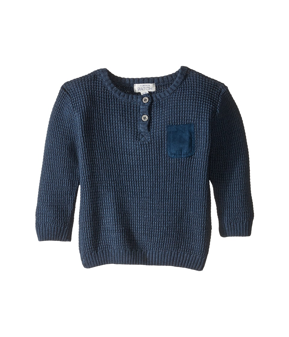Pumpkin Patch Kids - Moss Stitch Sweater (Infant) (Evening Blue Marle) Boy's Sweater