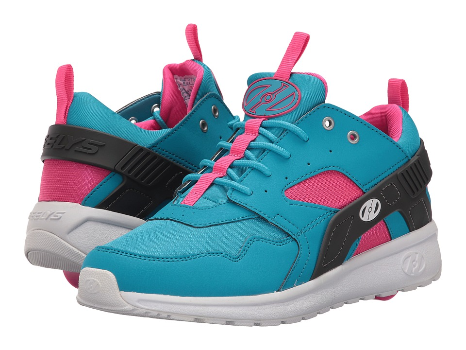 Heelys - Force (Little Kid/Big Kid/Adult) (Aqua/Grey/Pink) Girls Shoes