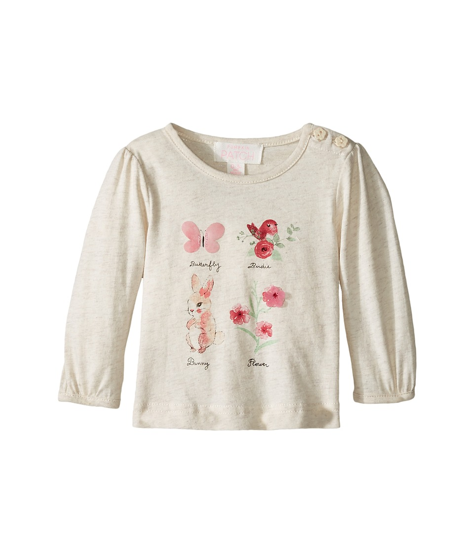 Pumpkin Patch Kids - Butterfly Top (Infant) (Oatmeal Marle) Girl's Clothing