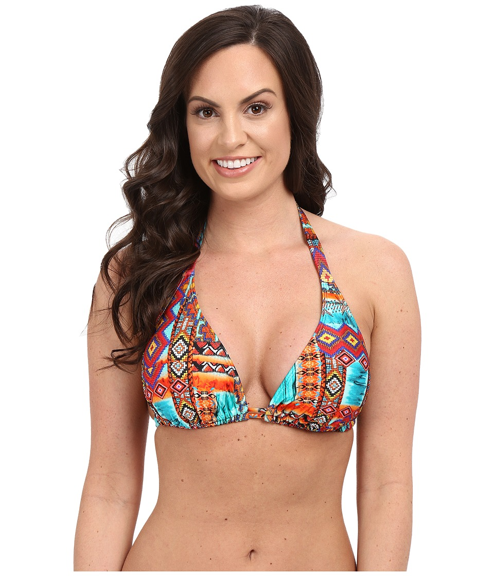 Luli Fama - Wild Free Seamless D/DD Cup Triangle Halter Top (Multicolor) Women's Swimwear