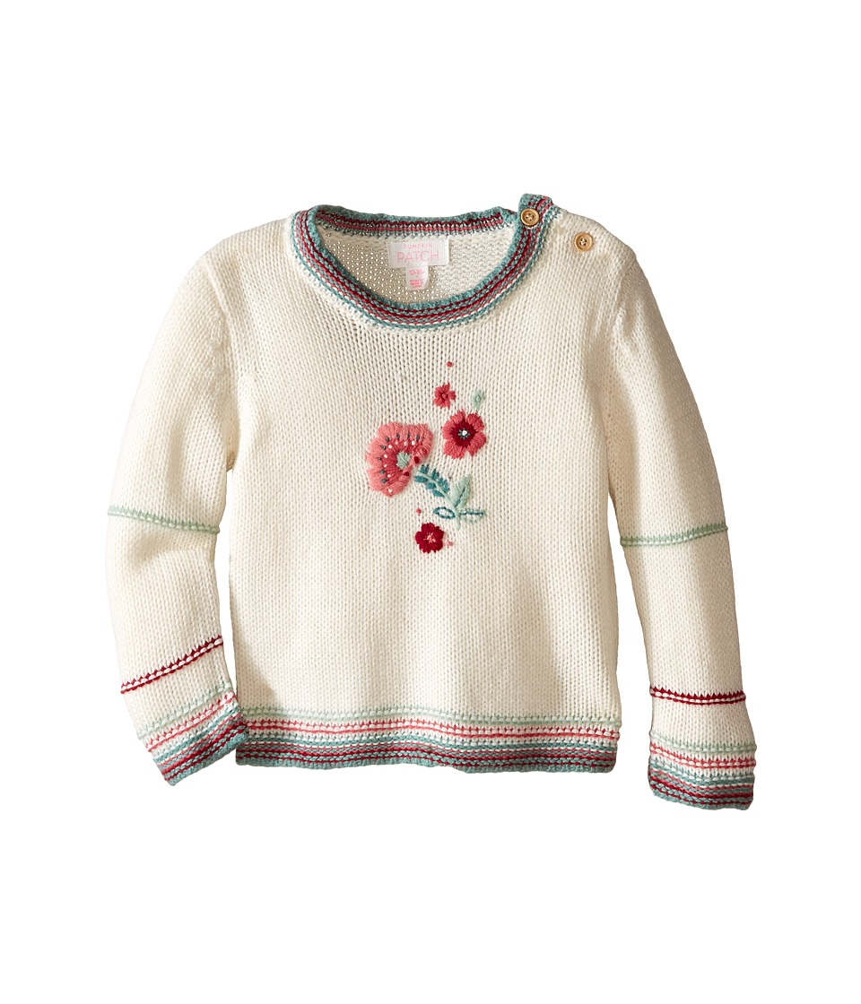 Pumpkin Patch Kids - Floral Sweater (Infant) (French Vanilla) Girl's Sweater
