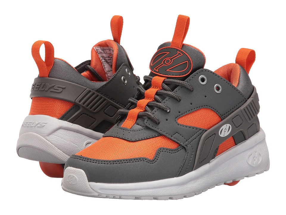Heelys - Force (Little Kid/Big Kid/Adult) (Dark Grey/Grey/Orange) Boys Shoes