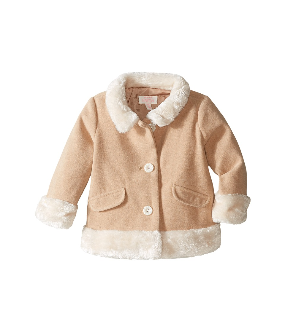 Pumpkin Patch Kids - Fluffy Trim Coat (Infant) (Earth) Girl's Coat