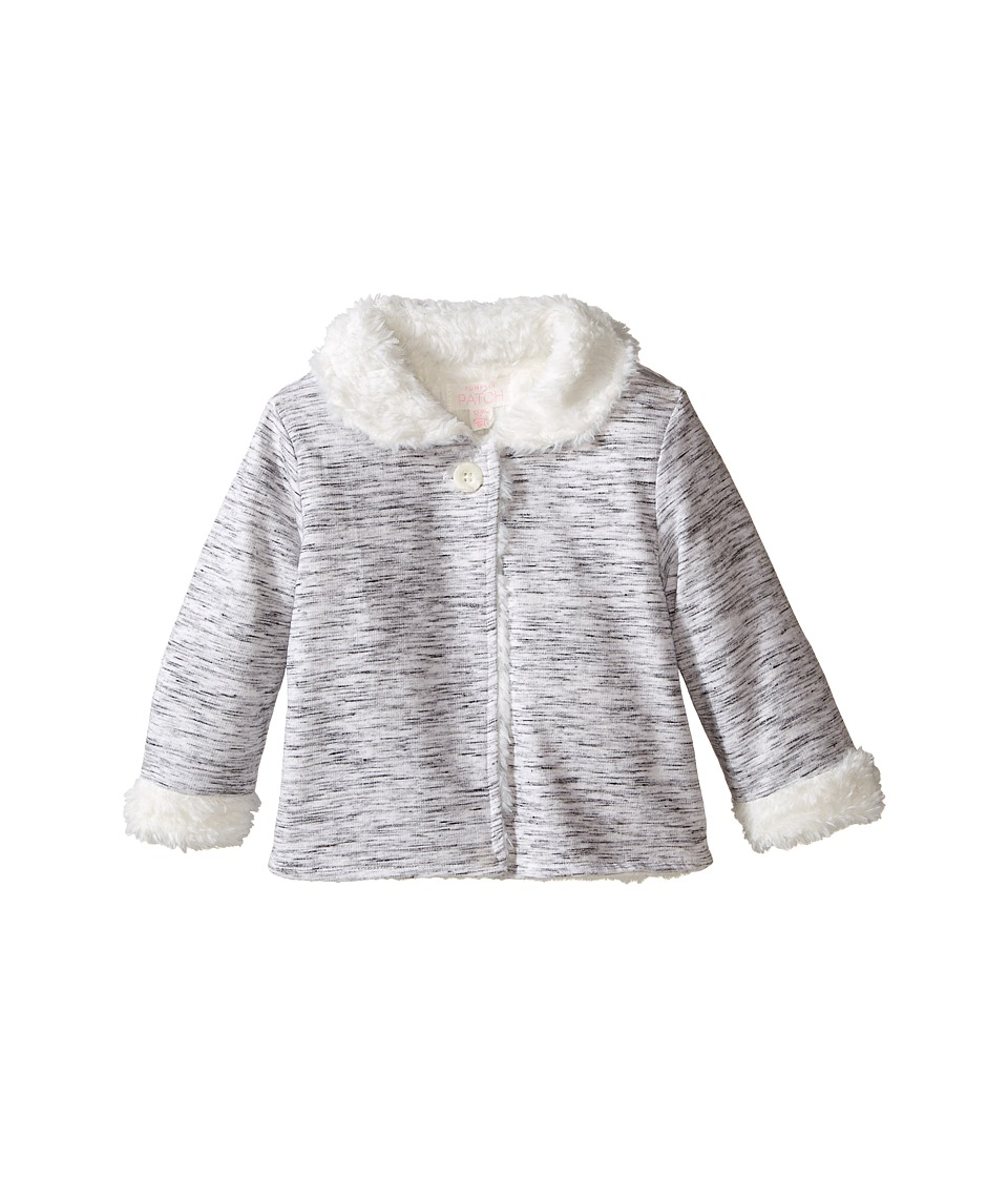 Pumpkin Patch Kids - Fluffy Lined Jacket (Infant) (Grey Marle) Girl's Coat