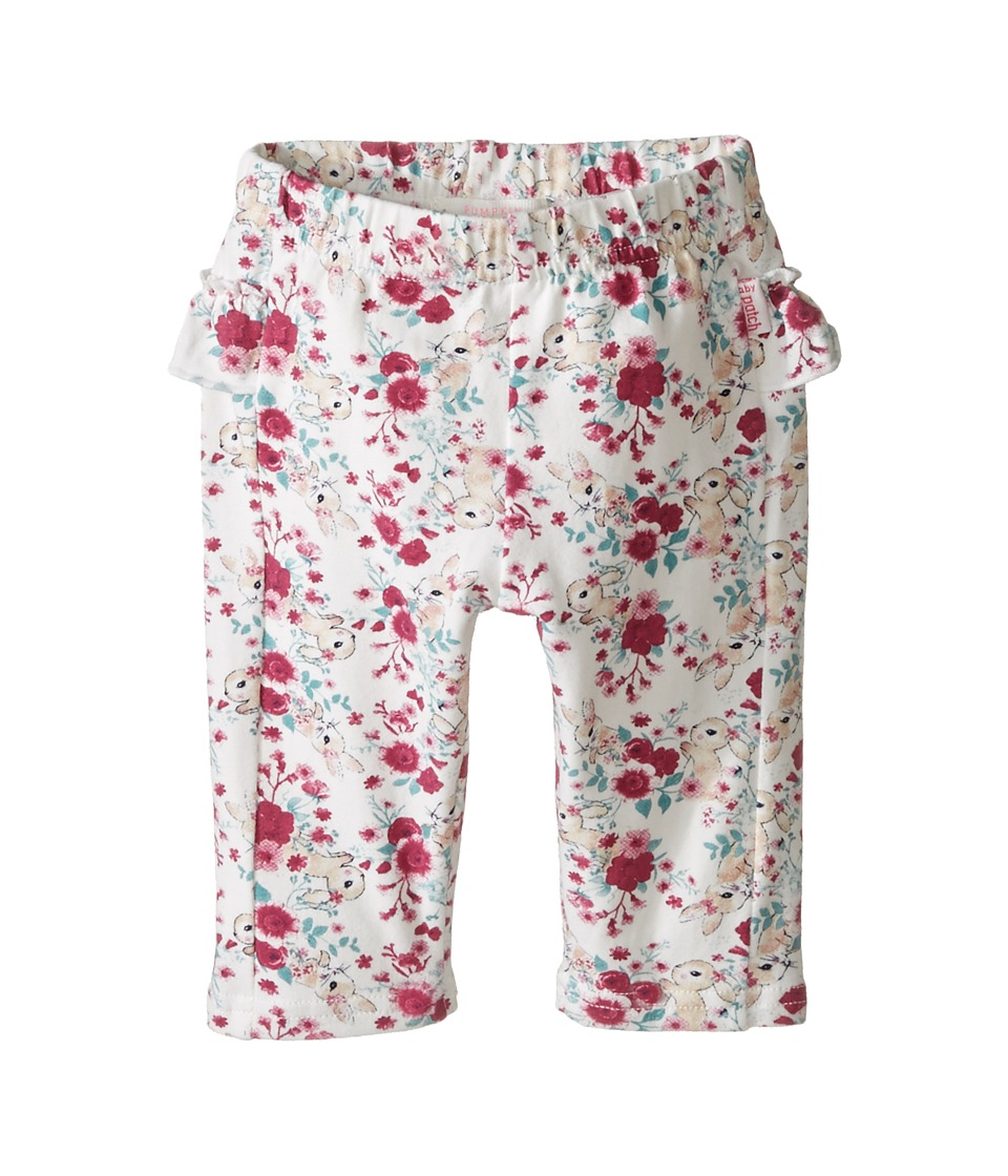 Pumpkin Patch Kids - Floral Bunny Leggings (Infant) (French Vanilla) Girl's Casual Pants