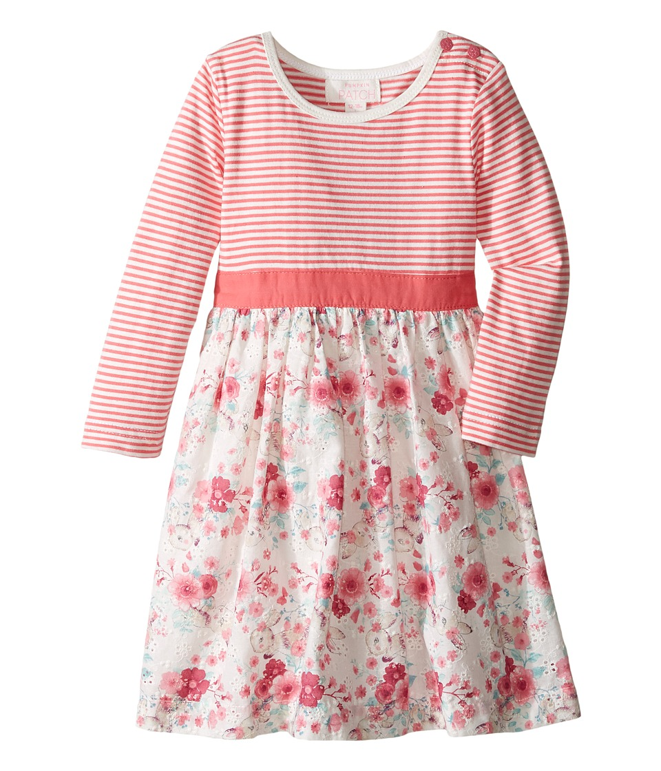 Pumpkin Patch Kids - Knit and Woven Dress (Infant) (French Vanilla) Girl's Dress