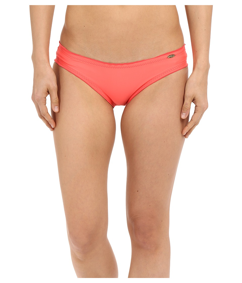 Luli Fama - Cosita Buena Full Ruched Back Bikini Bottom (Fire Coral) Women's Swimwear