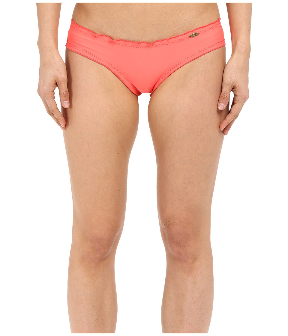 Luli Fama - Cosita Buena Wavey Brazilian Ruched Bottom (Fire Coral) Women's Swimwear