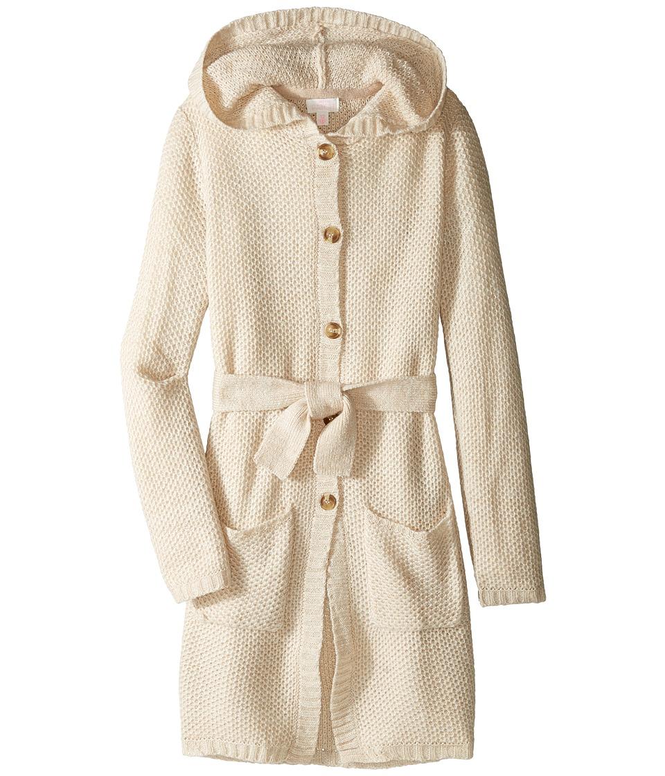 Pumpkin Patch Kids - Hooded Long Cardigan (Little Kids/Big Kids) (French Vanilla) Girl's Sweater