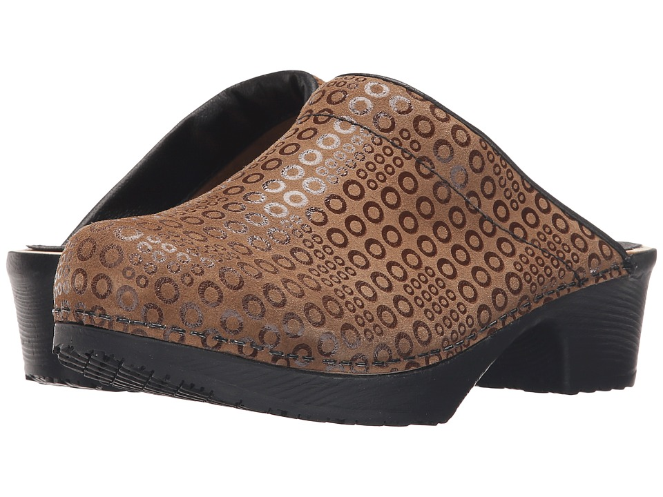 Sanita - Wood Split Art (Brown) Women's Clog Shoes