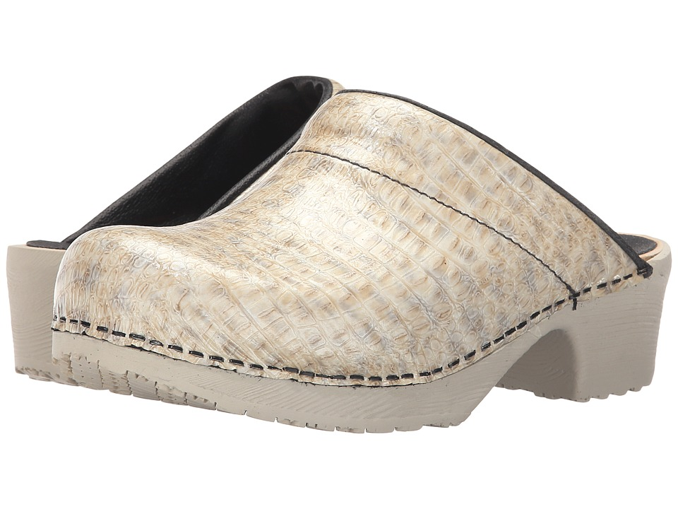 Sanita - Wood Art (Taupe) Women's Clog Shoes