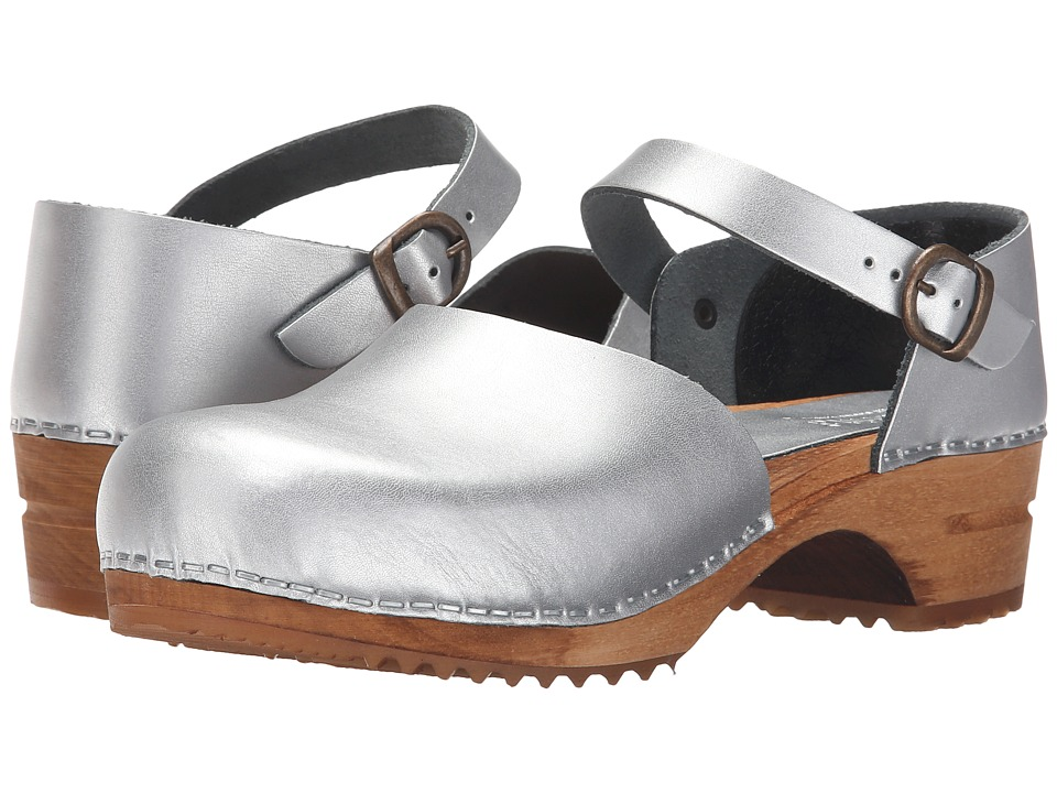 Sanita - Wood Solid (Silver) Women's Clog Shoes