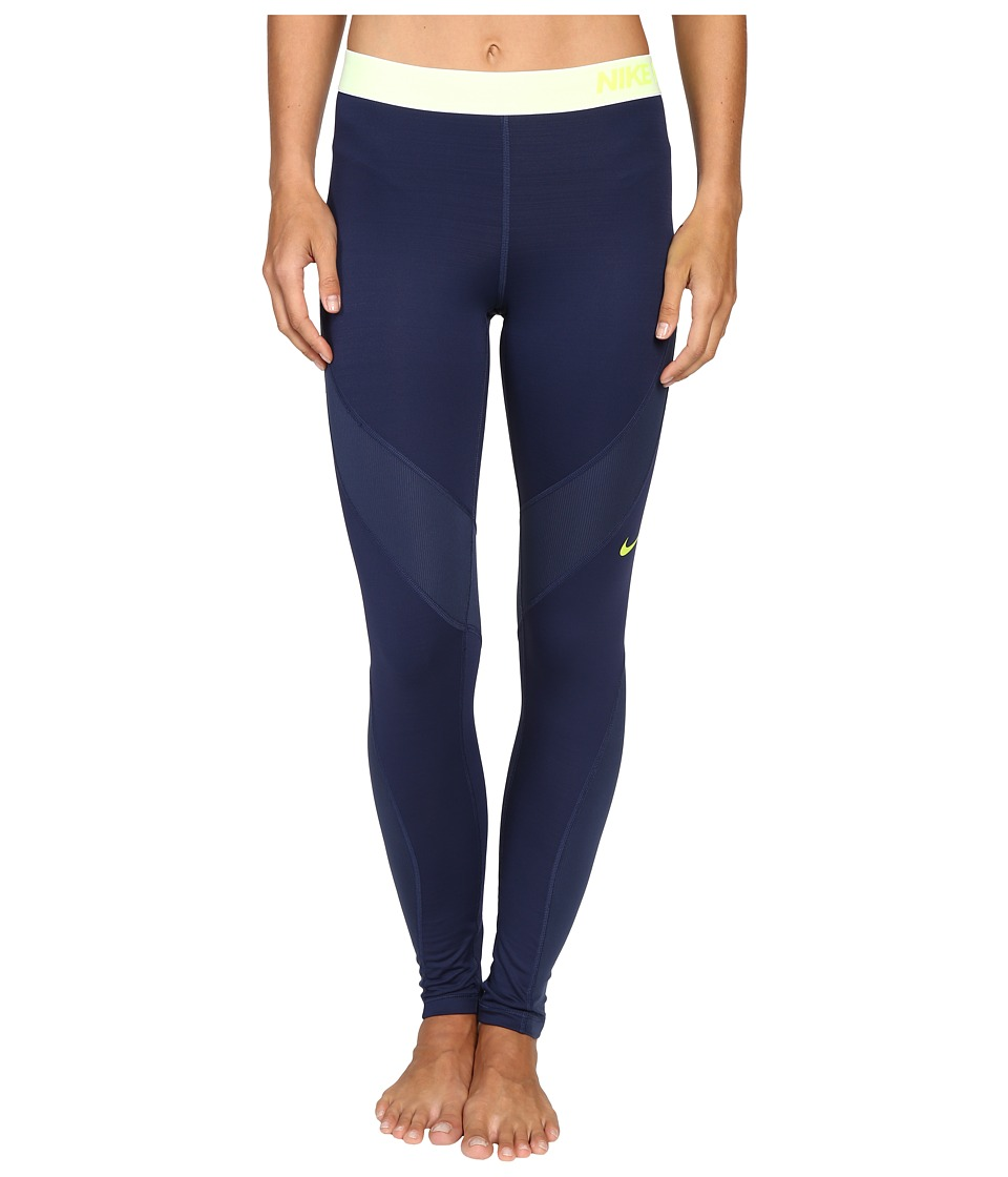 Nike - Pro Hyperwarm Training Tight (Midnight Navy/Dark Purple Dust) Women's Clothing