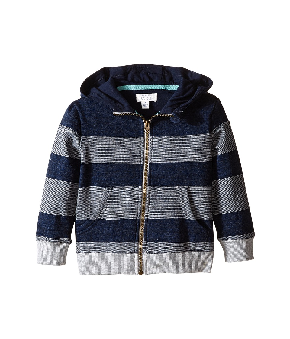 Pumpkin Patch Kids - Spliced Stripe Hoodie (Infant/Toddler/Little Kids/Big Kids) (Midnight Marle) Boy's Sweatshirt