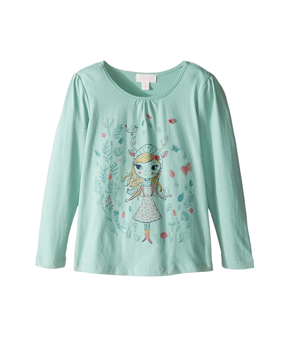 Pumpkin Patch Kids - Print Top (Infant/Toddler/Little Kids/Big Kids) (Lichen) Girl's Clothing