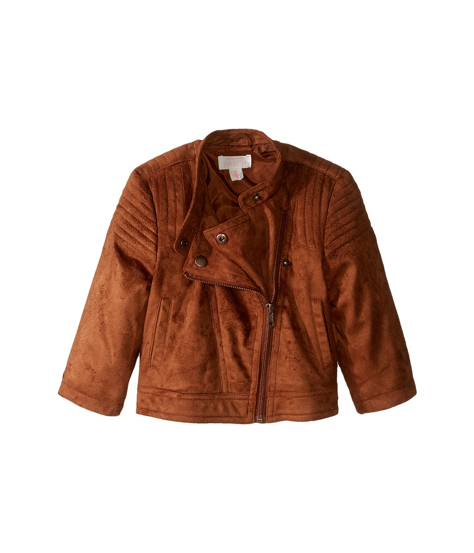 Pumpkin Patch Kids - Suede Biker Jacket (Infant/Toddler/Little Kids/Big Kids) (Tan) Girl's Coat