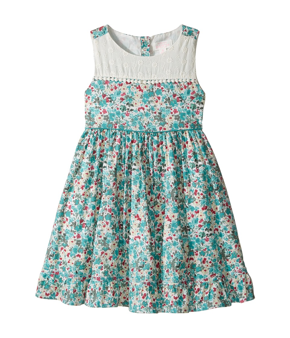 Pumpkin Patch Kids - Floral Paneled Dress (Infant/Toddler/Little Kids/Big Kids) (French Vanilla) Girl's Dress