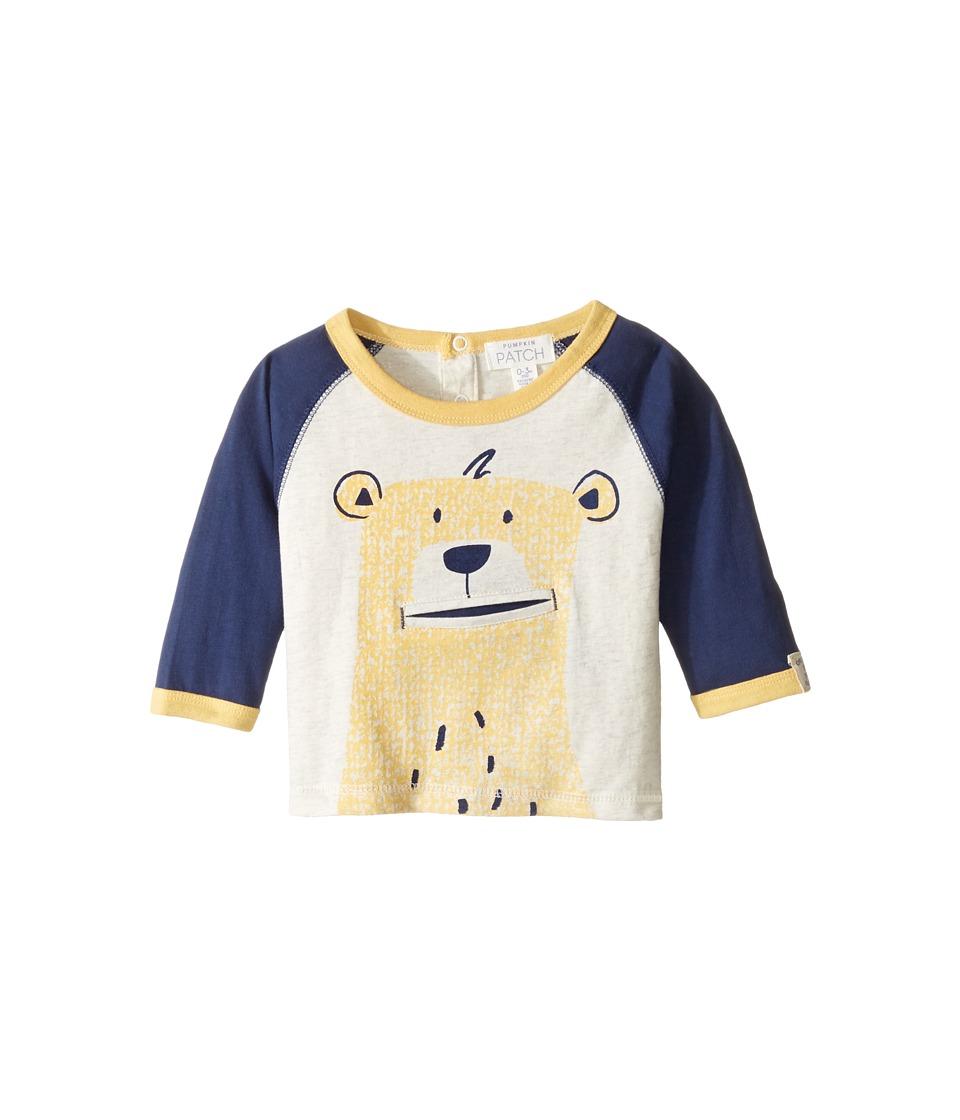 Pumpkin Patch Kids - Bear Face Tee (Infant) (Medieval Blue) Boy's T Shirt
