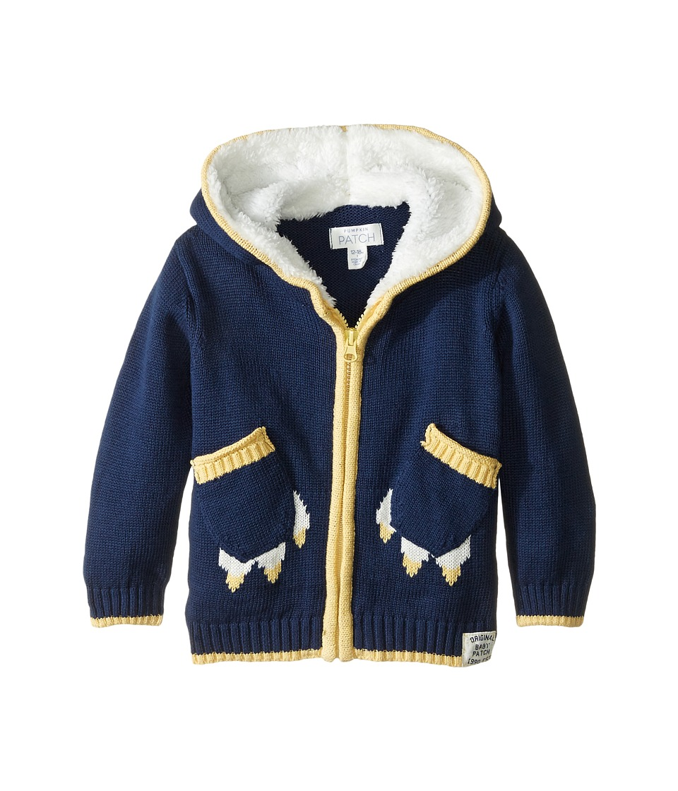 Pumpkin Patch Kids - Paw Pocket Cardigan (Infant) (Medieval Blue) Boy's Sweater