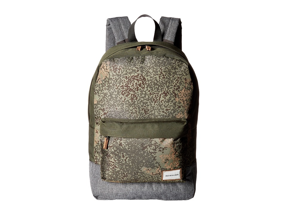 Quiksilver - Night Track Print Backpack (Dusty Olive Noised Camo) Backpack Bags