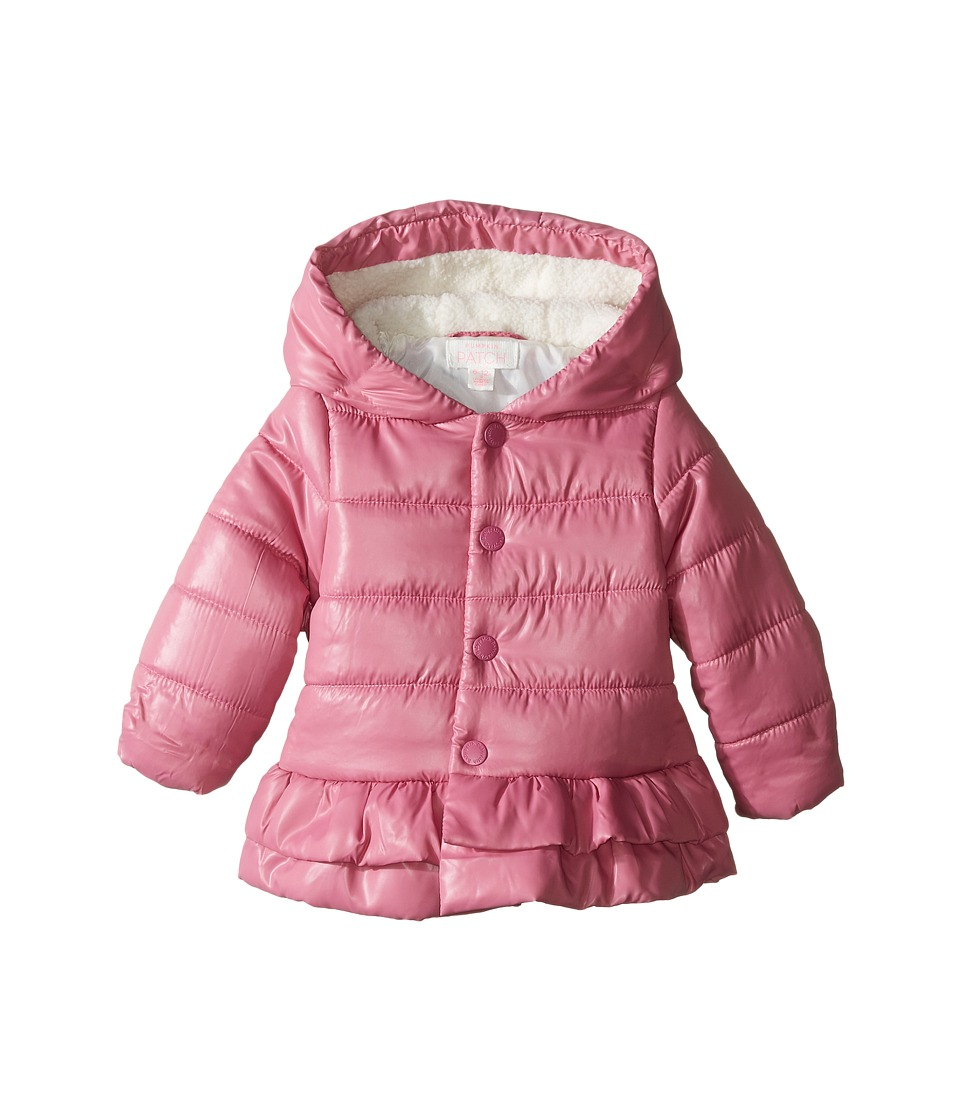 Pumpkin Patch Kids - Frilly Puffer Jacket (Infant) (Chateau Rose) Girl's Coat
