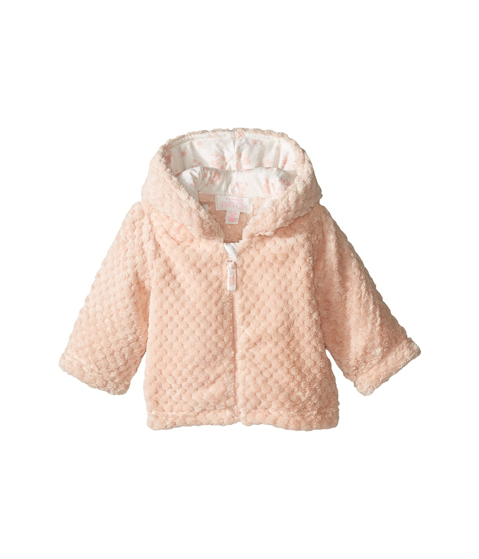 Pumpkin Patch Kids - Fluffy Jacket (Infant) (Powder Pink) Girl's Coat