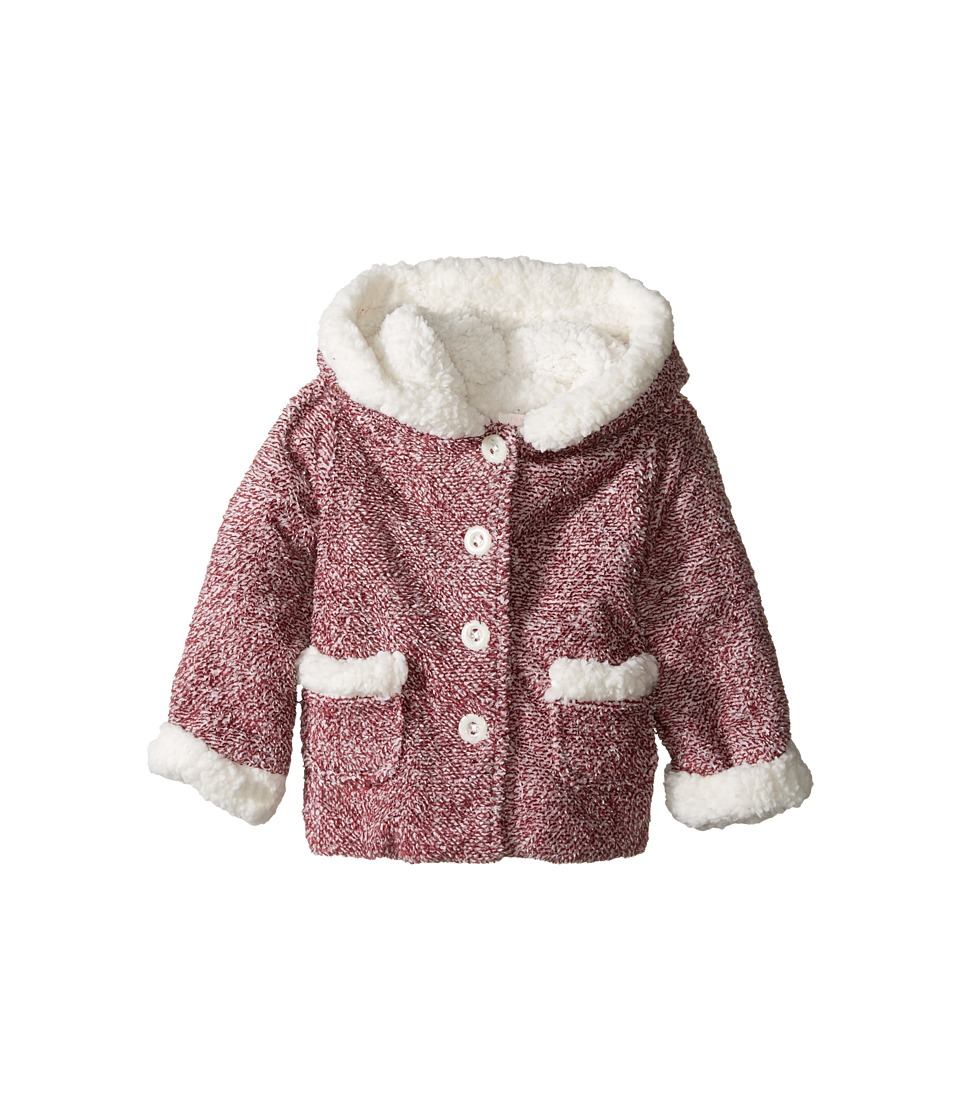 Pumpkin Patch Kids - Speckled Fleece Jacket (Infant) (Beaujolais) Girl's Coat