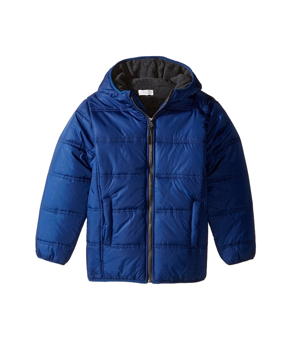 Pumpkin Patch Kids - Zip Through Puffer Jacket (Infant/Toddler/Little Kids/Big Kids) (Olympian Blue) Boy's Coat
