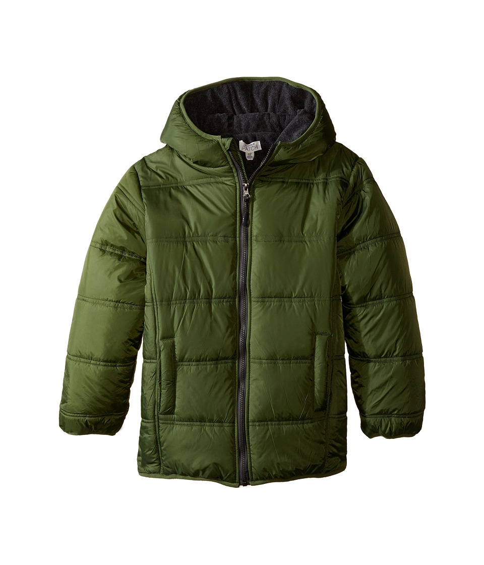 Pumpkin Patch Kids - Zip Through Puffer Jacket (Infant/Toddler/Little Kids/Big Kids) (Bronze Green) Boy's Coat
