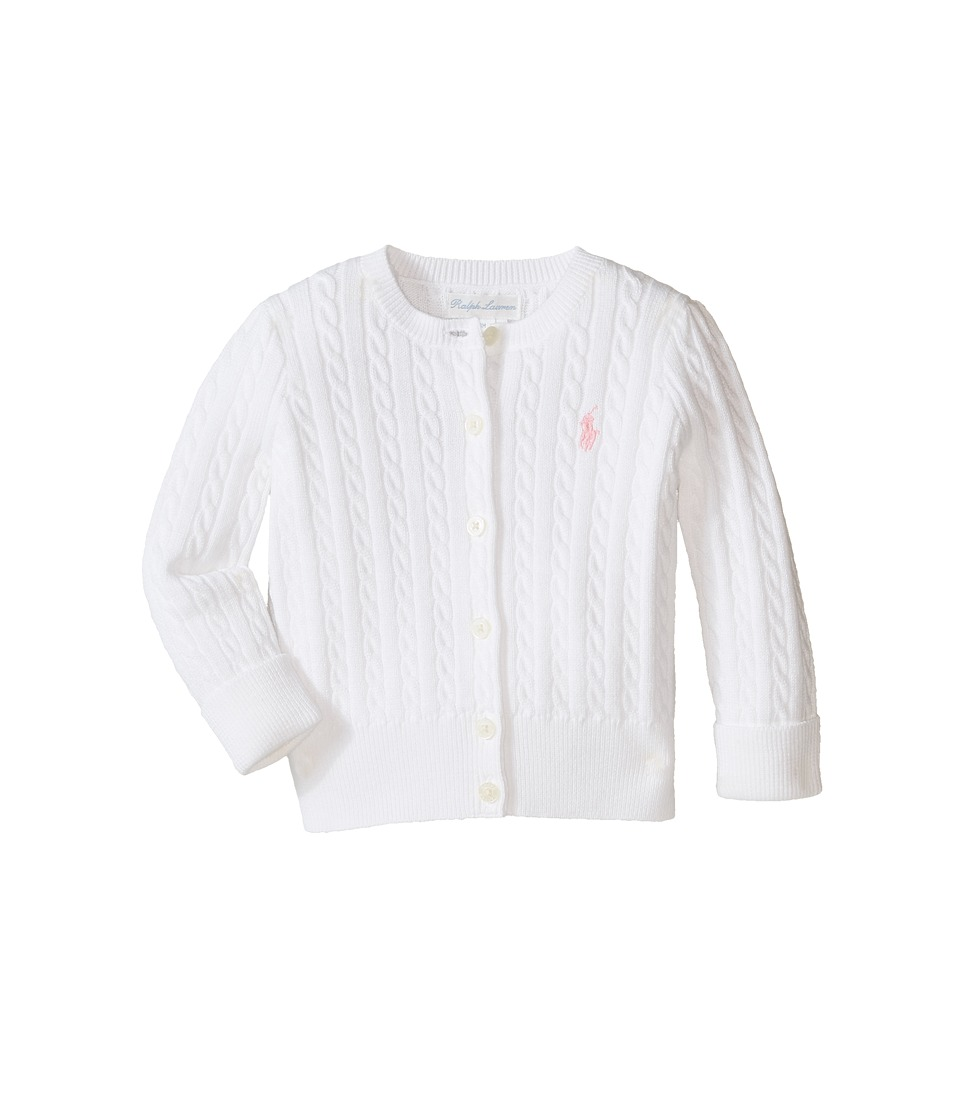 Ralph Lauren Baby - Mini Cable Sweater (Infant) (White) Girl's Sweater