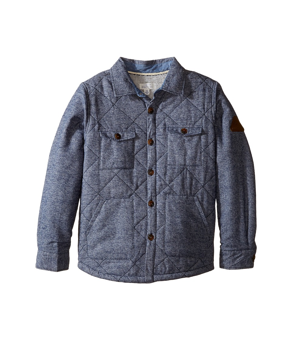 Pumpkin Patch Kids - Padded Shirt Jacket (Little Kids/Big Kids) (Medieval Blue) Boy's Coat