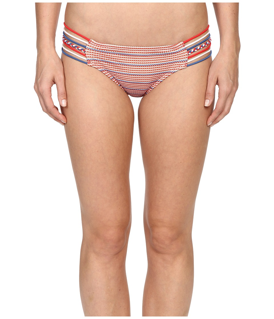 Luli Fama - American Dream Braided Side Full Bottoms (Multicolor) Women's Swimwear
