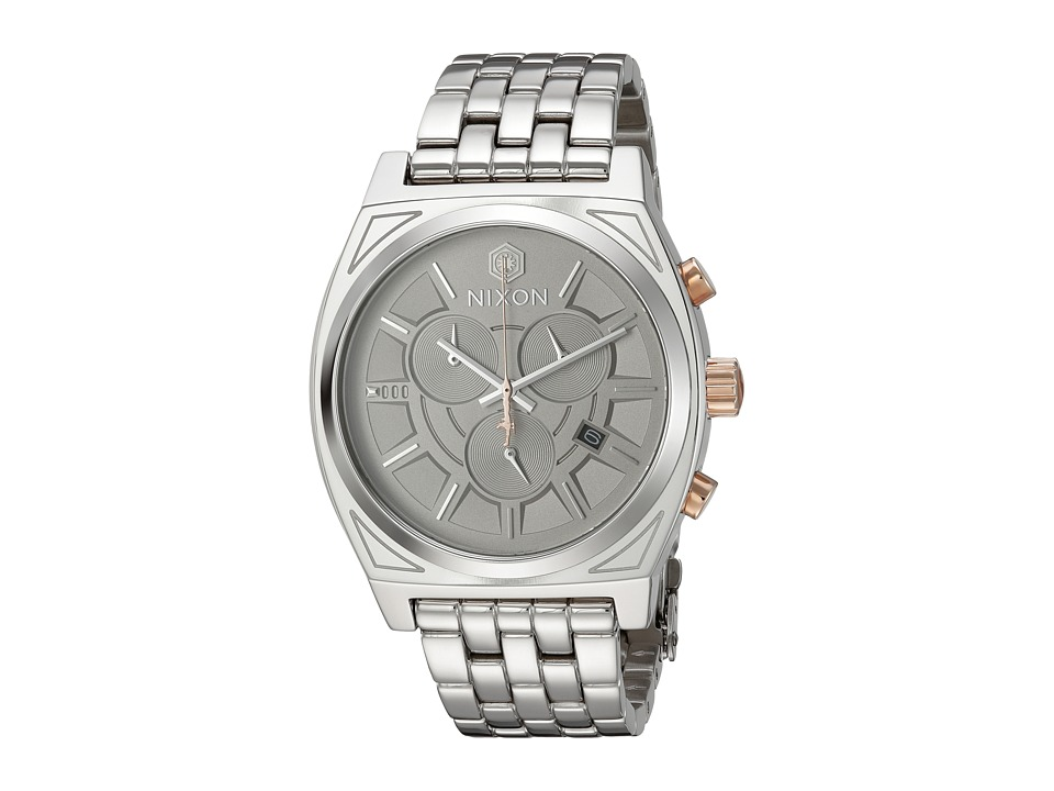 Nixon - The Time Teller Chrono Watch X Star Wars Collab (Phasma Silver) Chronograph Watches