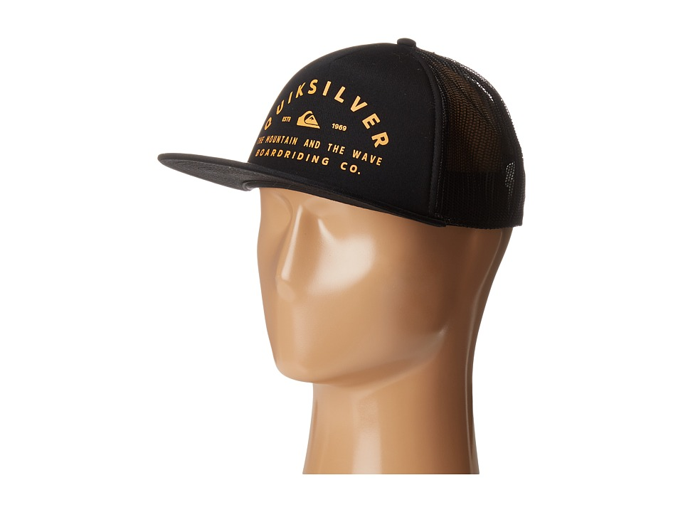Quiksilver - Oxten Trucker Hat (Black) Caps