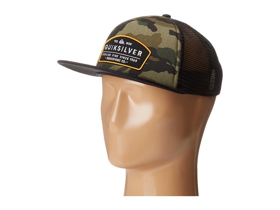 Quiksilver - Reeder Trucker Hat (Camo) Caps