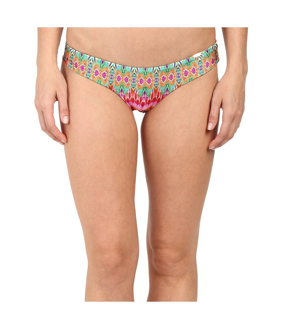 Luli Fama Sunkissed Laughter Wavey Back Ruched Bottoms (Multicolor) Women