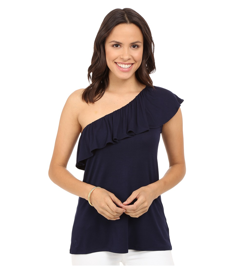Lilly Pulitzer - Neveah Top (True Navy) Women's Clothing