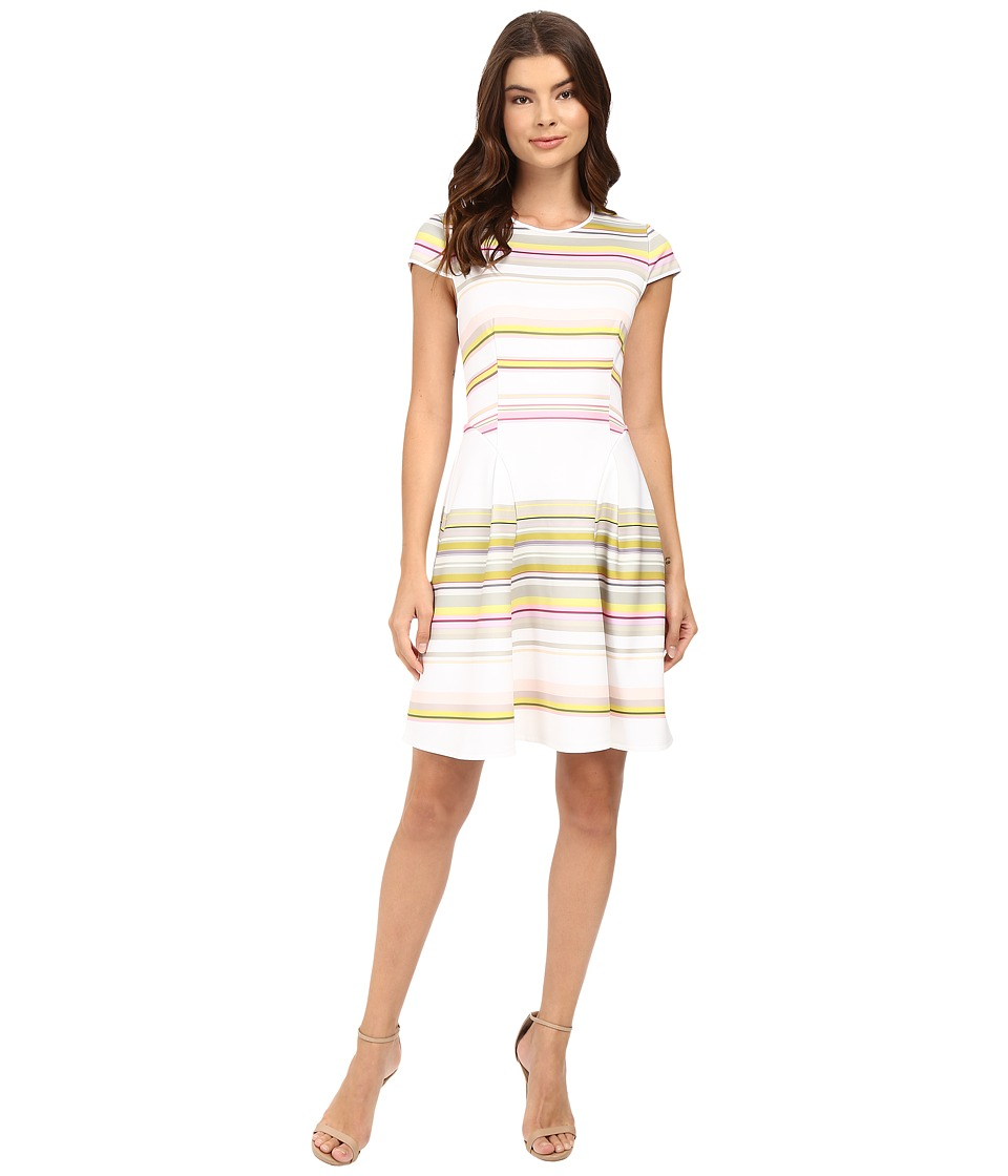 Ted Baker - Aquai Carousel Stripe Skater Dress (Olive) Women's Dress