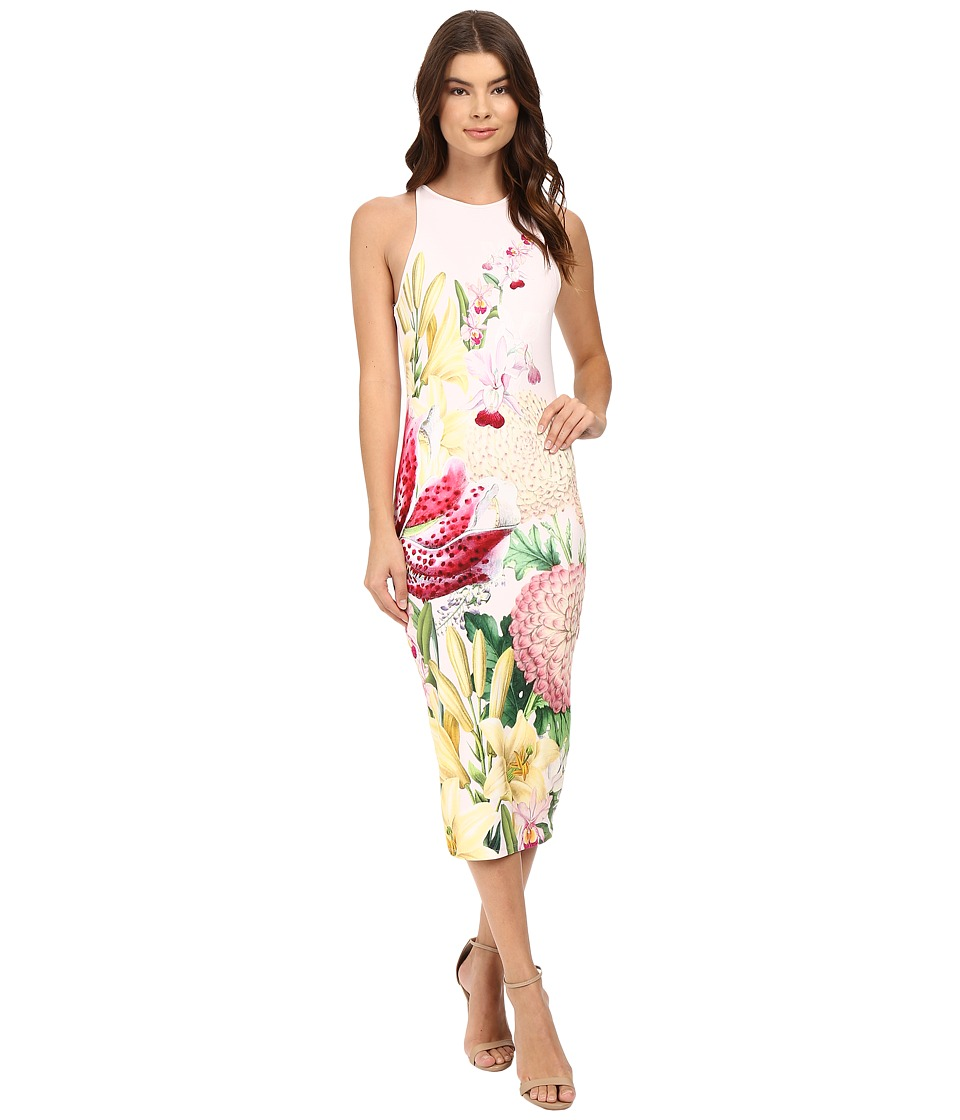 Ted Baker - Julee Encyclopedia Floral Midi Dress (Nude Pink) Women's Dress